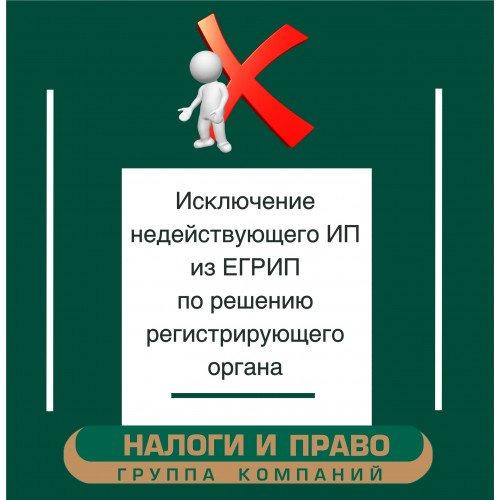 Исключение недействующего ИП <br>из ЕГРИП по решению регистрирующего органа