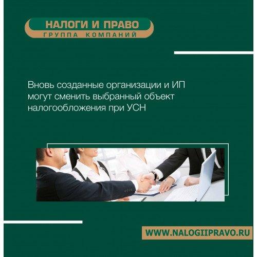 Вновь созданные организации и ИП могут сменить выбранный объект налогообложения при УСН